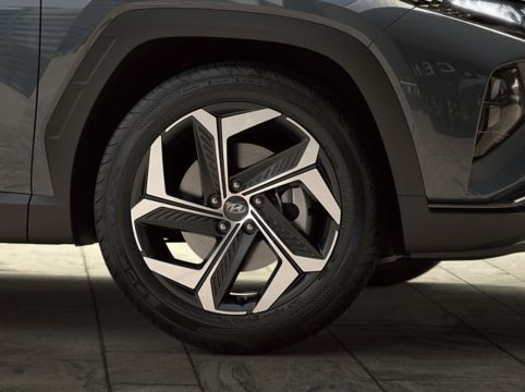 19'' alloy wheels.
